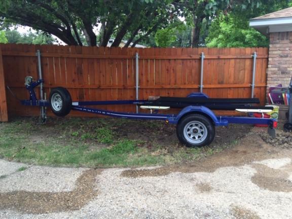 20 Ft Bayliner Boat trailer with 4 Boat Bumpers & Boat Ladder