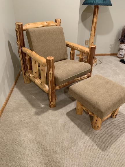 Superb Rice Lake Wi Log Chair And Ottoman Dailytribune Chair Design For Home Dailytribuneorg