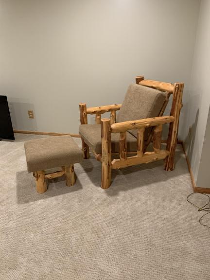 Awe Inspiring Rice Lake Wi Log Chair And Ottoman Dailytribune Chair Design For Home Dailytribuneorg