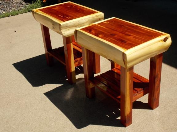 Red Cedar End Tables