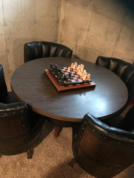 Howell Mi Whiskey Barrel Table And Chairs