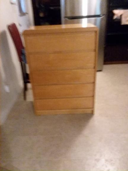 5 Drawer Wood Chester For Sale In Monroe LA