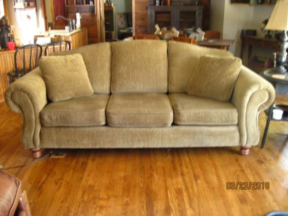 Sofa, Tilt Back Chair And Ottoman For Sale In Phillips WI